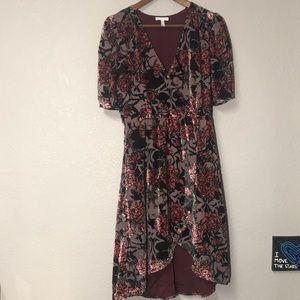 Leith Velvet Floral Dress